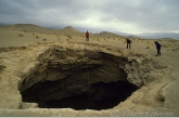 Dieptemeting van ingestorte grot